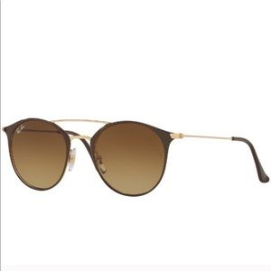 Ray Ban RB3546 Sunglasses in Brown Gold